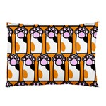 Cute Cat Hand Orange Pillow Case (Two Sides) Back