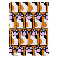 Cute Cat Hand Orange Apple Ipad 3/4 Hardshell Case (compatible With Smart Cover) by AnjaniArt