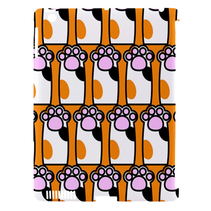 Cute Cat Hand Orange Apple iPad 3/4 Hardshell Case (Compatible with Smart Cover)