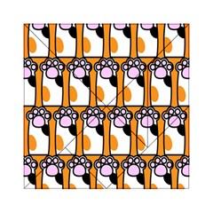 Cute Cat Hand Orange Acrylic Tangram Puzzle (6  x 6 )