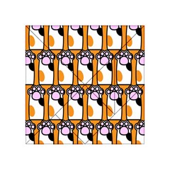 Cute Cat Hand Orange Acrylic Tangram Puzzle (4  X 4 )