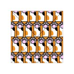Cute Cat Hand Orange Acrylic Tangram Puzzle (4  x 4 ) Front