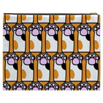 Cute Cat Hand Orange Cosmetic Bag (XXXL)  Back