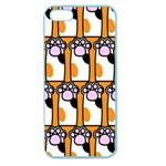 Cute Cat Hand Orange Apple Seamless iPhone 5 Case (Color) Front