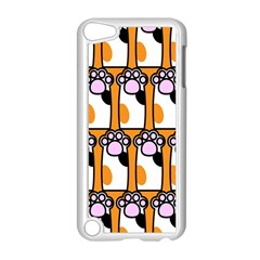 Cute Cat Hand Orange Apple Ipod Touch 5 Case (white)