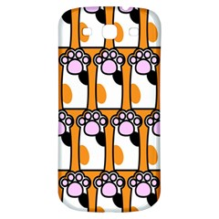 Cute Cat Hand Orange Samsung Galaxy S3 S Iii Classic Hardshell Back Case