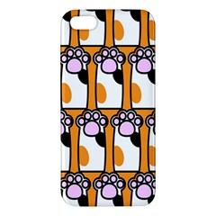 Cute Cat Hand Orange Apple iPhone 5 Premium Hardshell Case