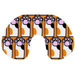 Cute Cat Hand Orange Travel Neck Pillows Back