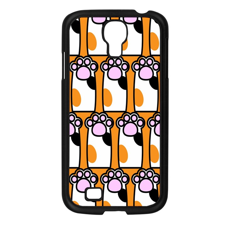 Cute Cat Hand Orange Samsung Galaxy S4 I9500/ I9505 Case (Black)