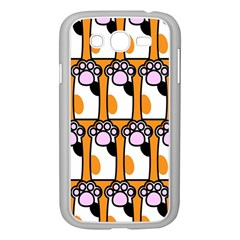Cute Cat Hand Orange Samsung Galaxy Grand Duos I9082 Case (white) by AnjaniArt