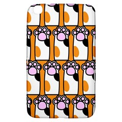 Cute Cat Hand Orange Samsung Galaxy Tab 3 (8 ) T3100 Hardshell Case