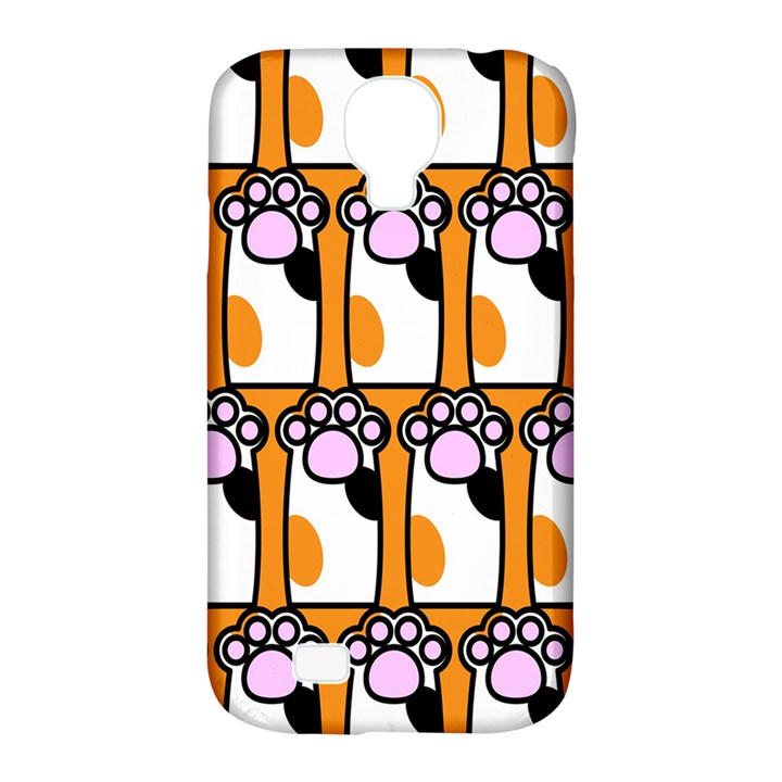 Cute Cat Hand Orange Samsung Galaxy S4 Classic Hardshell Case (PC+Silicone)