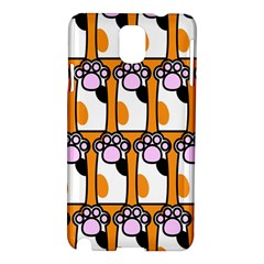 Cute Cat Hand Orange Samsung Galaxy Note 3 N9005 Hardshell Case by AnjaniArt