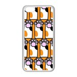 Cute Cat Hand Orange Apple iPhone 5C Seamless Case (White) Front