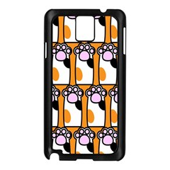 Cute Cat Hand Orange Samsung Galaxy Note 3 N9005 Case (black) by AnjaniArt