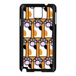 Cute Cat Hand Orange Samsung Galaxy Note 3 N9005 Case (Black) Front