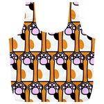 Cute Cat Hand Orange Full Print Recycle Bags (L)  Front