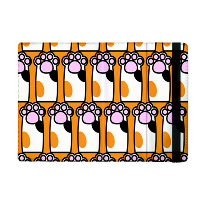 Cute Cat Hand Orange iPad Mini 2 Flip Cases