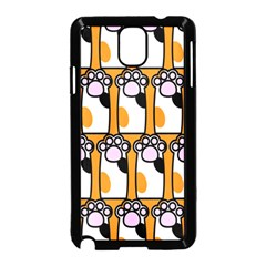 Cute Cat Hand Orange Samsung Galaxy Note 3 Neo Hardshell Case (black)
