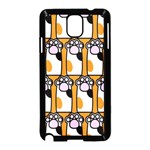 Cute Cat Hand Orange Samsung Galaxy Note 3 Neo Hardshell Case (Black) Front