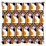 Cute Cat Hand Orange Standard Flano Cushion Case (One Side) Front