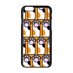 Cute Cat Hand Orange Apple iPhone 6/6S Black Enamel Case Front