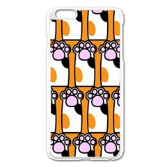 Cute Cat Hand Orange Apple Iphone 6 Plus/6s Plus Enamel White Case by AnjaniArt