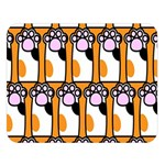 Cute Cat Hand Orange Double Sided Flano Blanket (Large)   Blanket Back