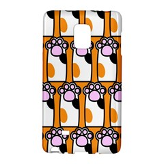 Cute Cat Hand Orange Galaxy Note Edge by AnjaniArt