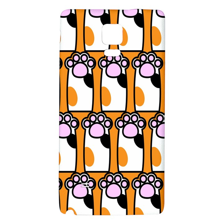 Cute Cat Hand Orange Galaxy Note 4 Back Case