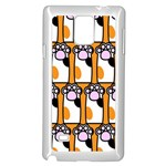 Cute Cat Hand Orange Samsung Galaxy Note 4 Case (White) Front