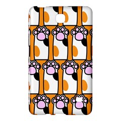 Cute Cat Hand Orange Samsung Galaxy Tab 4 (7 ) Hardshell Case