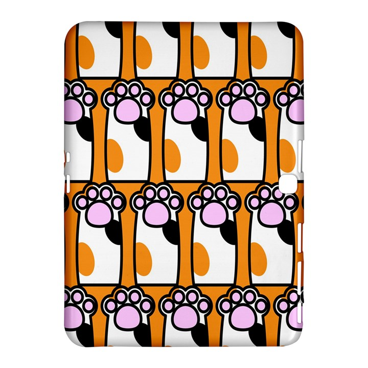 Cute Cat Hand Orange Samsung Galaxy Tab 4 (10.1 ) Hardshell Case