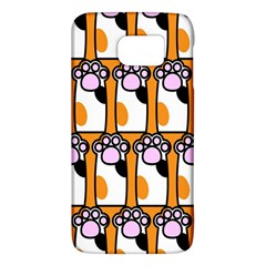 Cute Cat Hand Orange Galaxy S6 by AnjaniArt