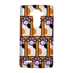 Cute Cat Hand Orange Lg G4 Hardshell Case by AnjaniArt