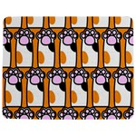 Cute Cat Hand Orange Jigsaw Puzzle Photo Stand (Rectangular) Front