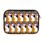 Cute Cat Hand Orange Apple MacBook Pro 17  Zipper Case Front