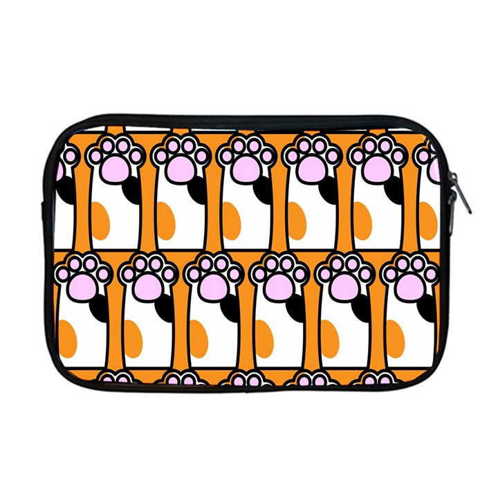 Cute Cat Hand Orange Apple MacBook Pro 17  Zipper Case