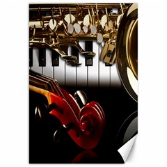Classical Music Instruments Canvas 20  X 30   by AnjaniArt