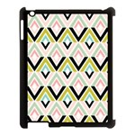 Chevron Pink Green Copy Apple iPad 3/4 Case (Black) Front