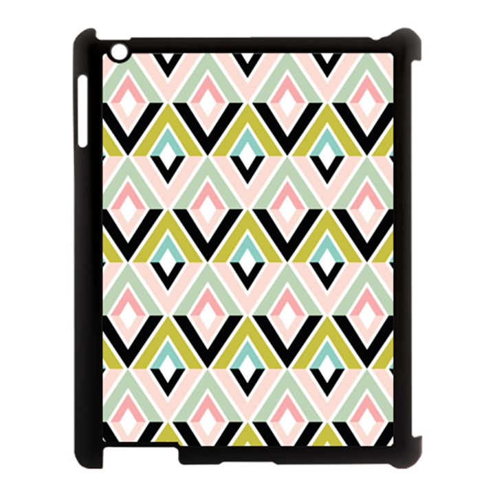 Chevron Pink Green Copy Apple iPad 3/4 Case (Black)