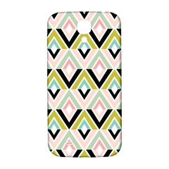 Chevron Pink Green Copy Samsung Galaxy S4 I9500/i9505  Hardshell Back Case by AnjaniArt