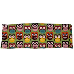 Eye Owl Colorful Cute Animals Bird Copy Body Pillow Case (dakimakura) by AnjaniArt