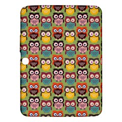 Eye Owl Colorful Cute Animals Bird Copy Samsung Galaxy Tab 3 (10 1 ) P5200 Hardshell Case  by AnjaniArt