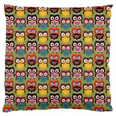 Eye Owl Colorful Cute Animals Bird Copy Standard Flano Cushion Case (one Side) by AnjaniArt
