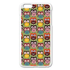Eye Owl Colorful Cute Animals Bird Copy Apple iPhone 6 Plus/6S Plus Enamel White Case by AnjaniArt