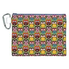 Eye Owl Colorful Cute Animals Bird Copy Canvas Cosmetic Bag (xxl) by AnjaniArt