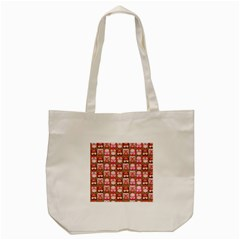Eye Owl Colorfull Pink Orange Brown Copy Tote Bag (cream) by AnjaniArt