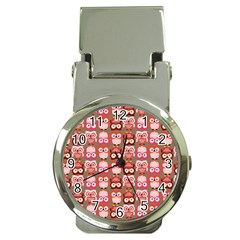 Eye Owl Colorfull Pink Orange Brown Copy Money Clip Watches by AnjaniArt