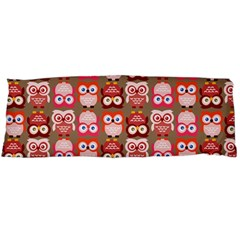 Eye Owl Colorfull Pink Orange Brown Copy Body Pillow Case Dakimakura (two Sides) by AnjaniArt